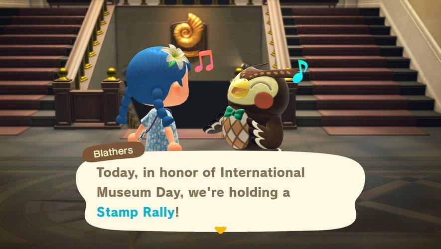 """Thibou accueille un visiteur dans """"Animal Crossing: New Horizons""""."""