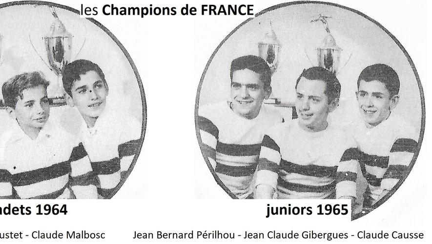 Les champions de France.