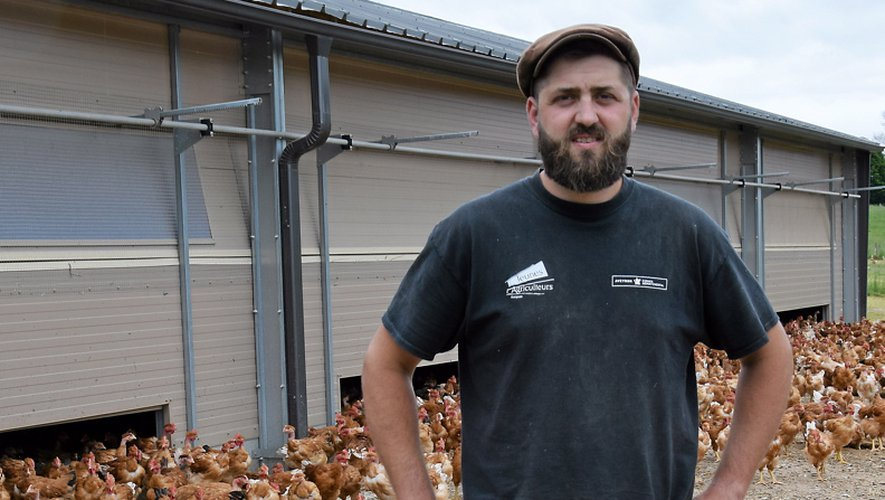 Responsable syndical jusqu'à mars dernier, Anthony Quintard est éleveur de volailles à Saint-Félix-de-Lunel.