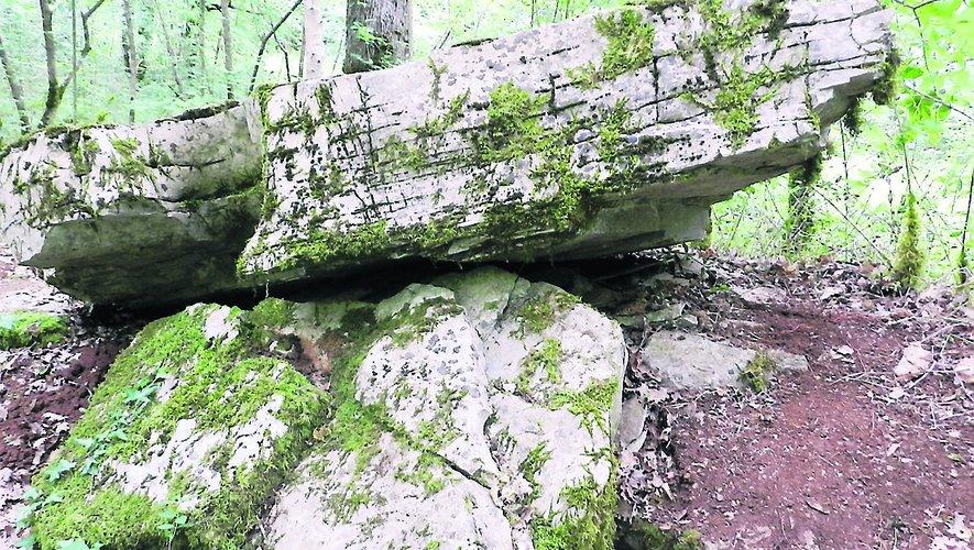 """Un """"beau"""" dolmen, bien conservé aux yeux de Pierre Bouscayrol."""