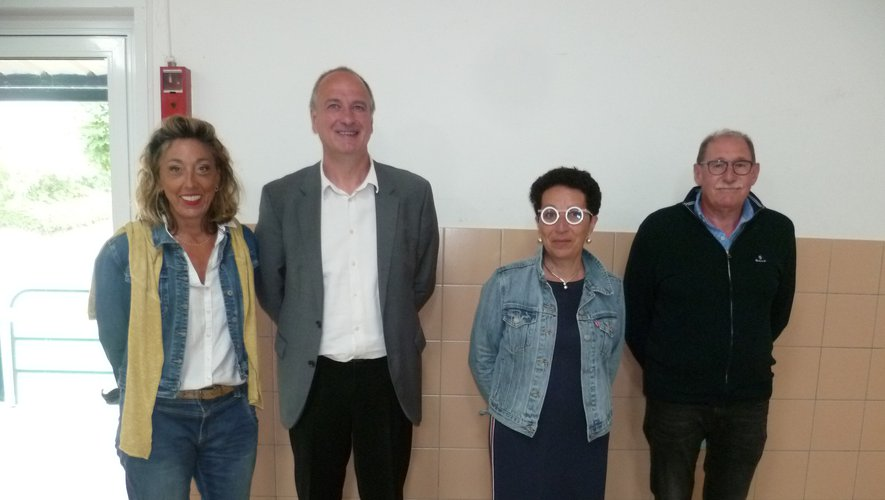 de gauche à droite: Catherine Fabre, Vivian Couderc , Magali Crayssac et Jean-Louis Cavalier.