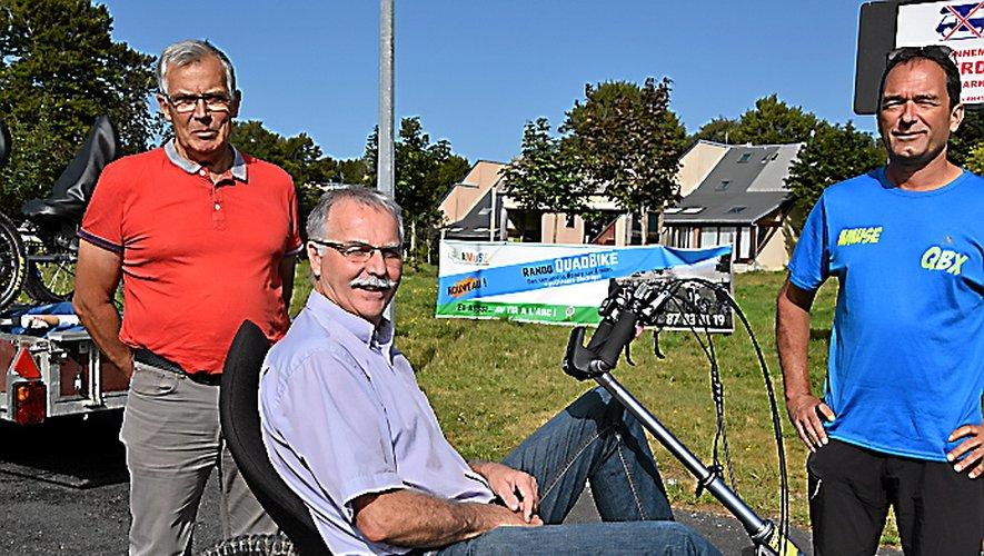Même le maire de Laguiole s'est initié au quad bike électrique !