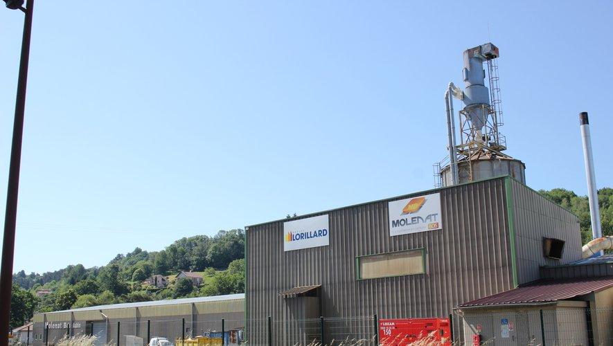Le site de production de Molénat Bois, zone du Plégat  à Aubin.
