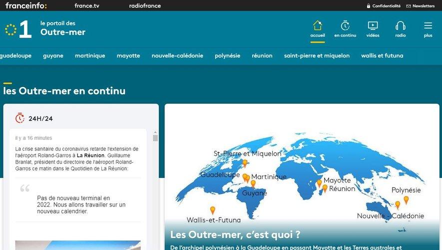 """France Télévisions a annoncé mercredi avoir mis en ligne """"Outre-mer La 1ère"""", un portail numérique entièrement dédié aux Outre-mer"""