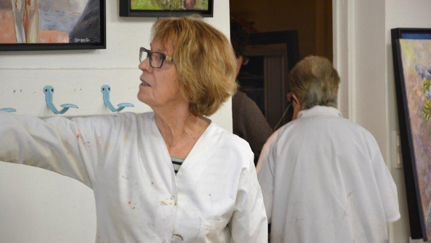 Roseline dans l'atelier de Verlézarts.
