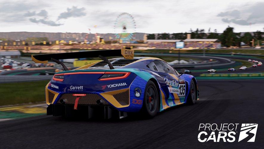 """""""Project Cars 3"""" : une Acura NSX sur le circuit brésilien d'Interlagos."""