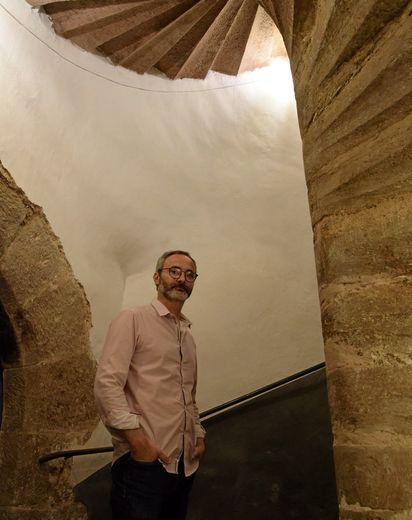 Une expo particulièrement originale dans un lieu qui ne manque pas de charme, à l'image de cet escalier à vis  du XVe.