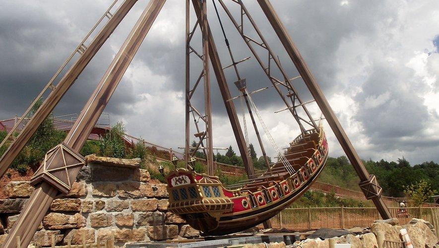 Le bateau des pirates, l'une de nouvelles attractions.