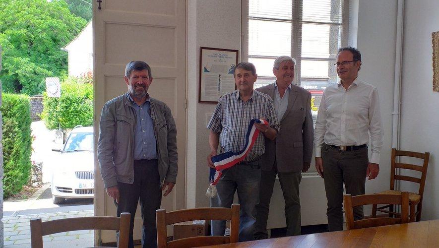 Jean-Louis Prunet entouré de Louis Boyer, Jean Delmas et Alain Marc.