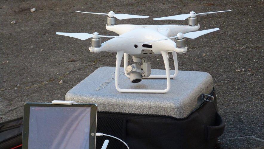 Un drone pour recueillir toutes les informations.