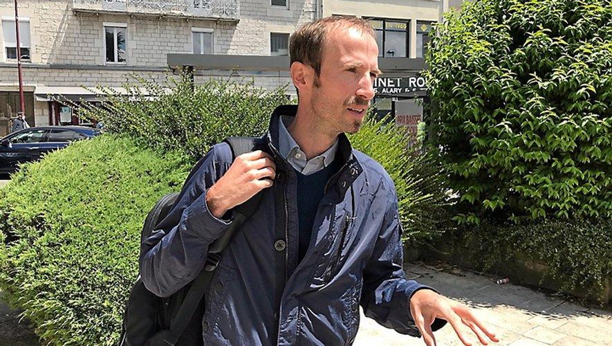 L'avocat des quatre prévenus, rattaché au barreau de Montpellier, Nicolas Gallon, peu avant le début du procès.