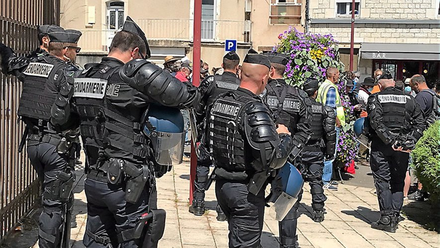 Un important dispositif de gendarmerie avait été déployé tout autour du tribunal judiciaire de Rodez.