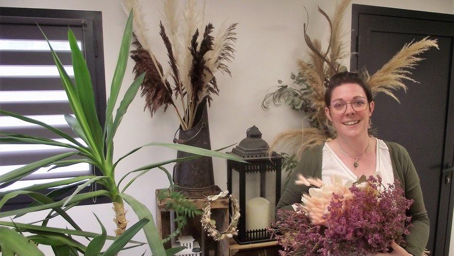 Aurélie dans son atelier gageois.