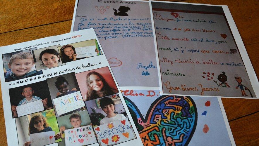 Des photos, des lettres, des dessins pour les résidents de l'Ehpad.
