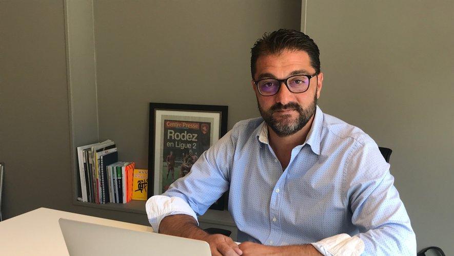Le président du Raf, Pierre-Olivier Murat ce mercredi 17 juin dans son bureau ruthénois.