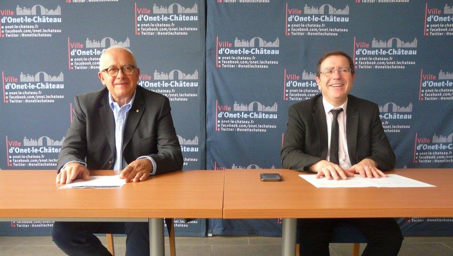 Le maire Jean-Philippe Keroslian et Didier Pierre adjoint à la vie associative et sportive.