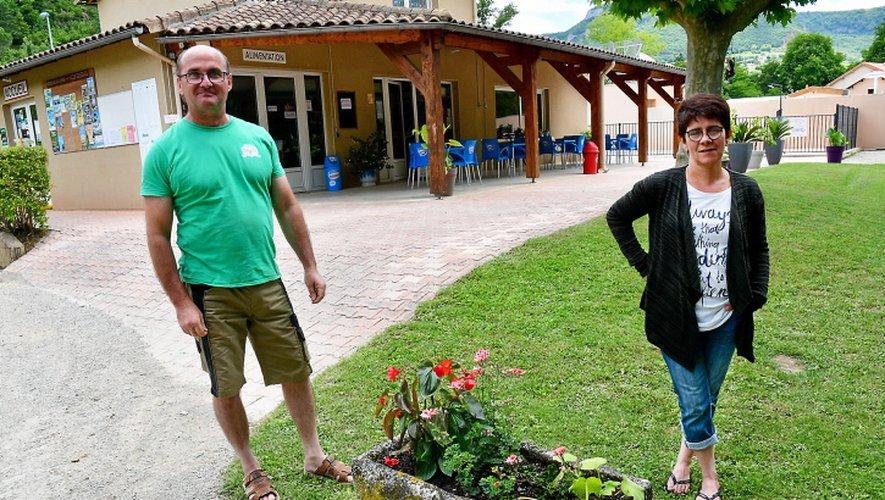 Christophe et Sylvie attendent leurs habitués au camping Les Erables.
