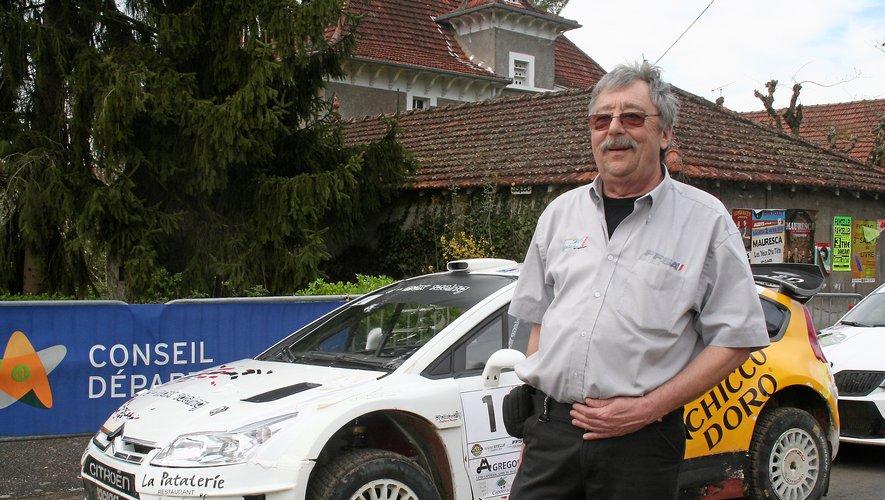 Michel Théron, ici en 2016 en marge du rallye Terre des Causses.