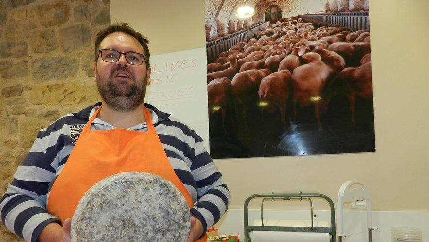 Ludovic Condamines propose dans sa boutique du 5 rue Montlauzeur un large choix de fromages.