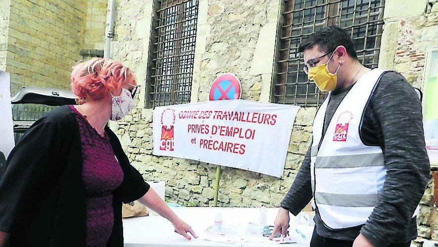 Karim Cabrit avec une syndicaliste CGT.
