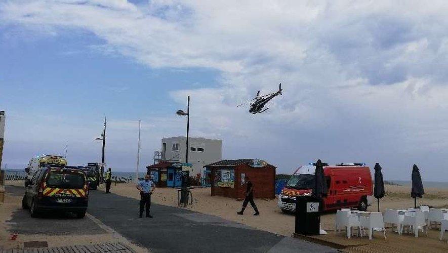 Un hélicoptère de la gendarmerie est intervenu.
