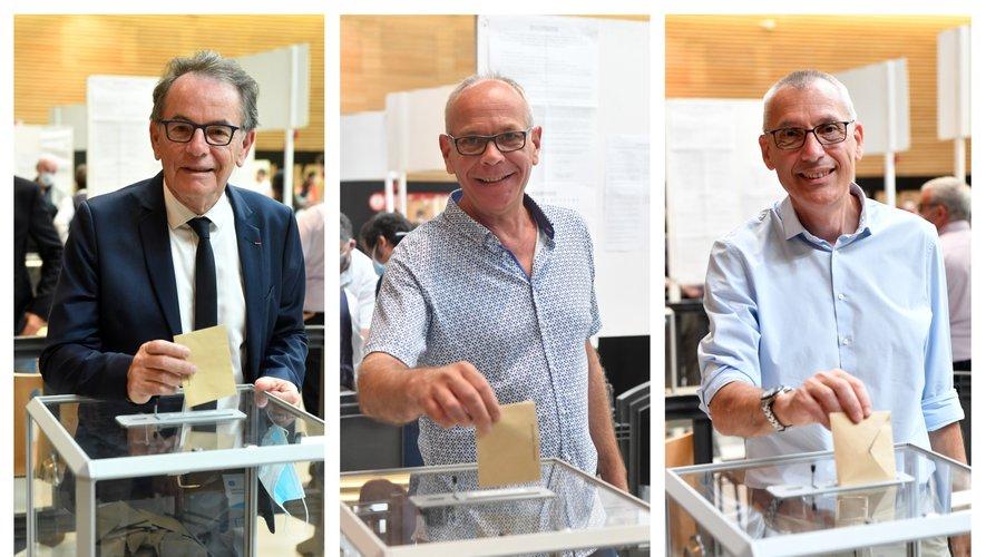 Christian Teyssèdre, Matthieu Lebrun et Serge Julien.