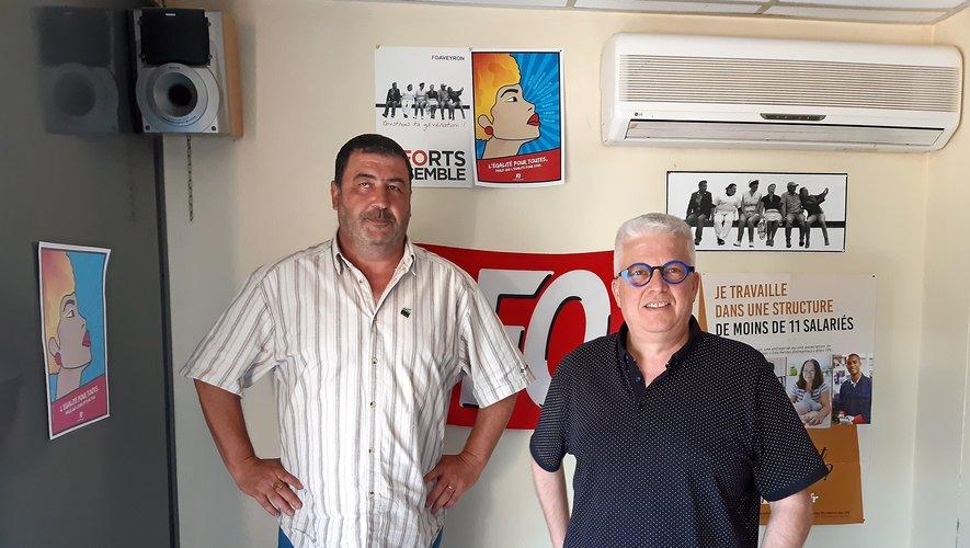 Emmanuel Dumas et Jacky Routaboul, mobilisés.