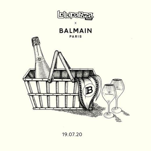 Le célèbre festival de musique s'associe avec Balmain, le temps d'un pique-nique.