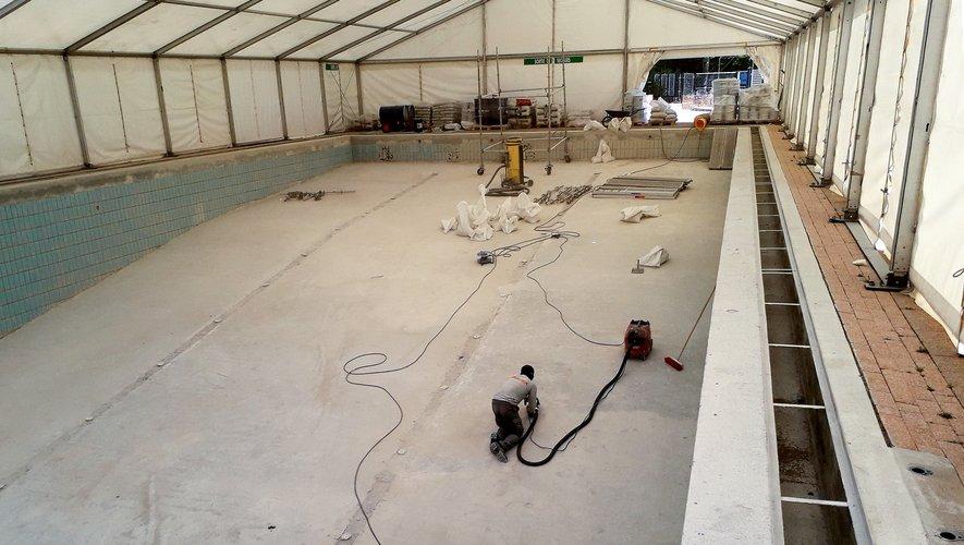 Les travaux de rénovation ont repris au bassin de Saint-Cyprien.