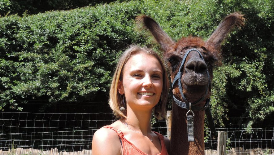 Aurélia partage sa passion pour des animaux hors du commun : les lamas et les alpagas.