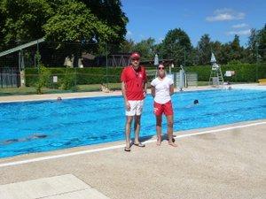 Samedi, Camille et Lorette veillaient à la sécurité des baigneurs.