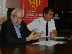 Les conseillers régionaux, Jean-Luc Gibelin et Stéphane Bérard, plaident pour le train de nuit.