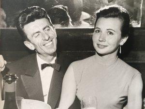 Fernand Pouillon et son épouse, Vera.