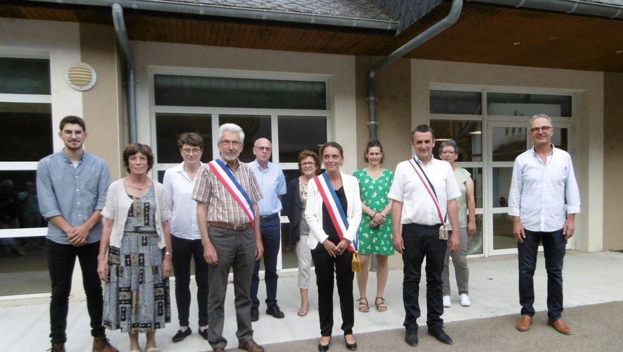 Le nouveau conseil municipal d'Estaing..