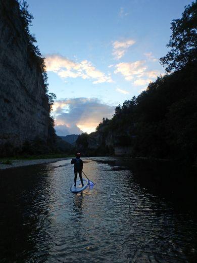Au fil du Tarn, en paddle et en nocturne