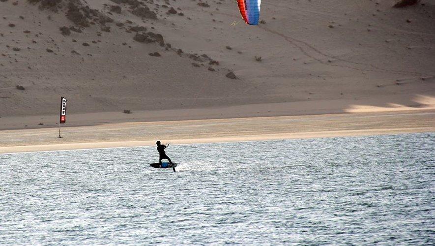 Les Coussoules,  la plage reine du kite
