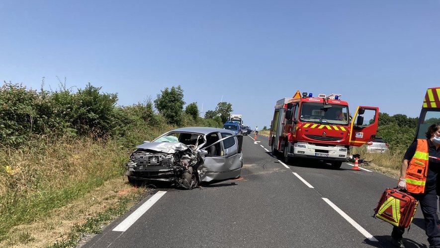 Deux blessés dans la collision.