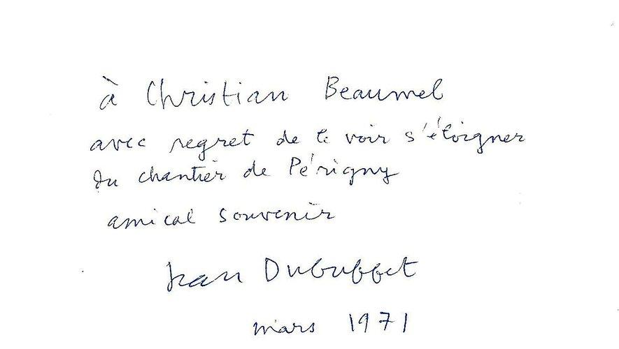 Quand Christian Beaumel travaillait dans l'atelier de Jean Dubuffet