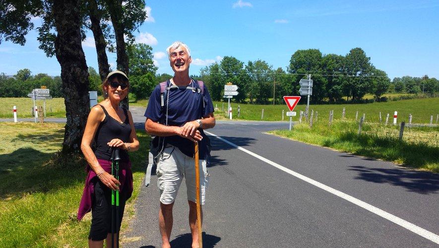 Véronique et François, 27 km de randonnée en musique.