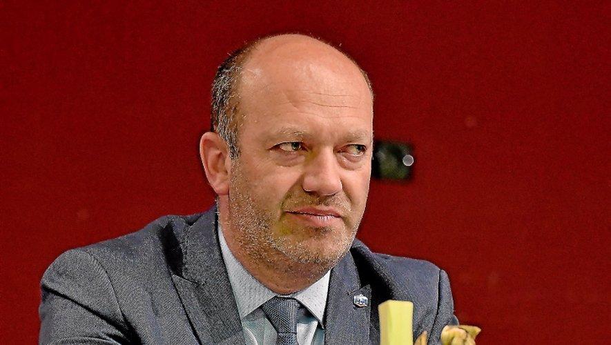 Arnaud Delpal, président du District de l'Aveyron.