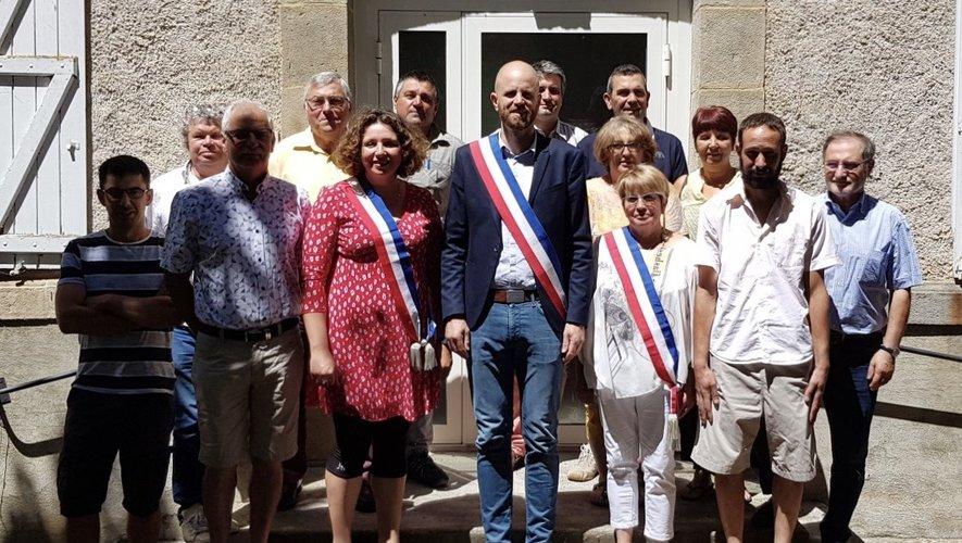 Le nouveau conseil municipalde Lédergues.