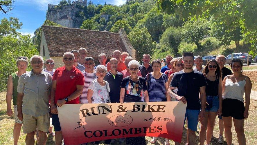 Les randonneurs à Rocamadour.