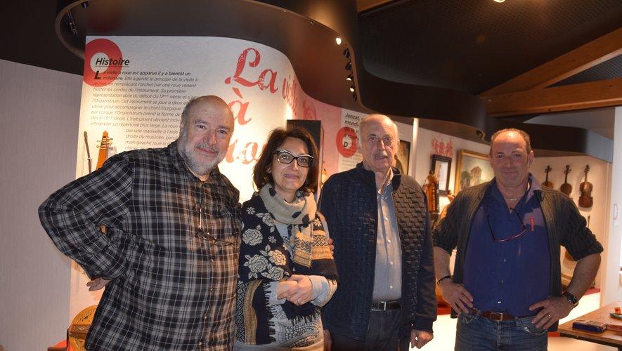 Le quatuor à l'originede ce renouveau : André Ricros, Laurence Falzon, André Raynal, Jean-Louis Claveyrolles.