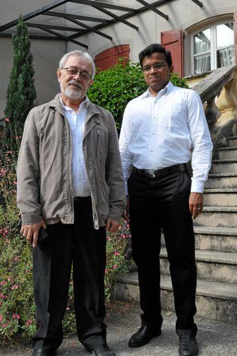 Bernard Quintard et Maroj Visuvasam à leur arrivée en 2017. Bernard Quintard et Maroj Visuvasam, à leur arrivée en 2017.