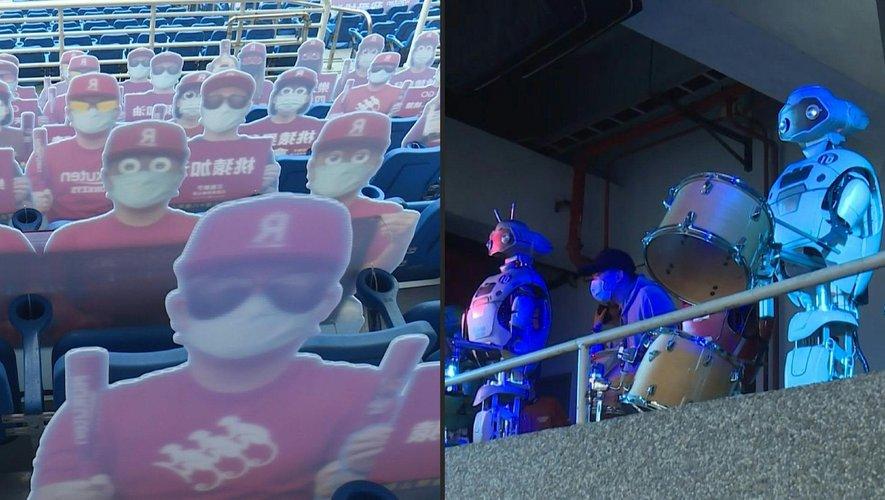 A Taïwan, des robots musiciens encouragent les équipes de baseball dans les stades