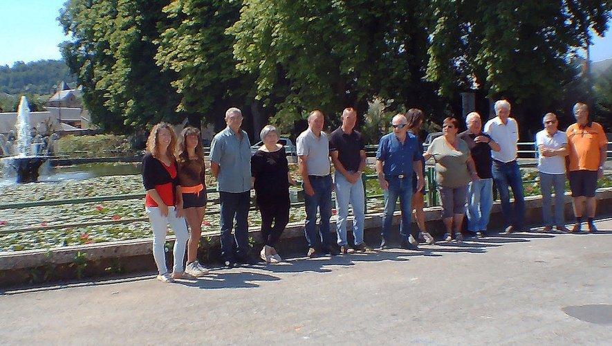 Elus et responsables à Campagnac où se déroulera le bouquet final avec spectacle pyrotechnique à cheval.