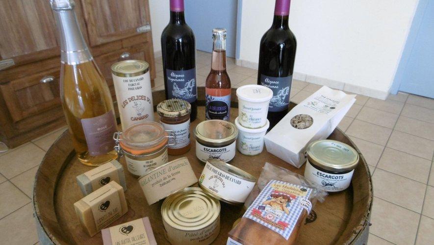 """Un panel de produits""""fabriqués en Nord-Aveyron""""."""