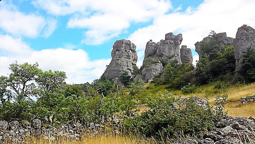 Les rochers de Roquesaltes.