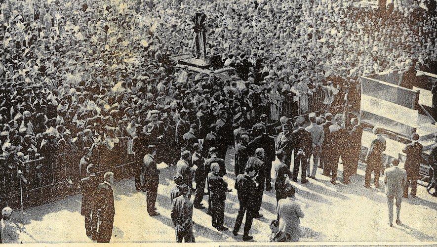 A l'image de Decazeville, l'Aveyron avait réservé un accueil très chaleureux au général de Gaulle. Sa visite avait été captée par les caméras de la télévision : radiodiffusion et la Télévision nationale. Un reportage filmé avait été tourné puis diffusé. Les radios étaient également présentes : Europe 1 et Radio Luxembourg.
