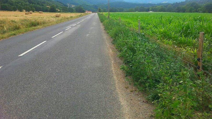 La plaine de Promilhac, juste avant d'arriver à Ouyre.